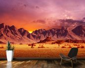 Namib Desert Sunset wall mural kitchen preview
