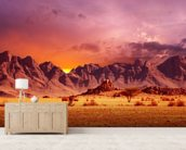 Namib Desert Sunset wall mural living room preview