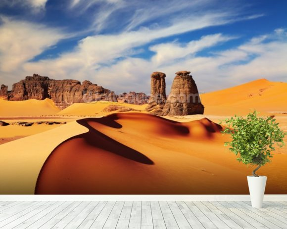 Sahara desert wallpaper wall mural wallsauce for Desert wall mural