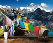 Mt Everest mural wallpaper kitchen preview