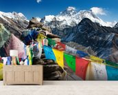 Mt Everest mural wallpaper living room preview