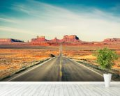 Monument Valley Highway wall mural in-room view