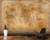 Old Map wall mural kitchen preview