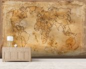 Old Map wall mural living room preview