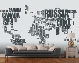 World map wallpaper wall murals wallsauce usa world map word cloud gumiabroncs Choice Image