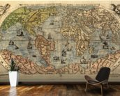 Map of Ancient World mural wallpaper kitchen preview