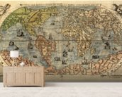 Map of Ancient World mural wallpaper living room preview