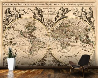 High-Quality Antique Map wall mural