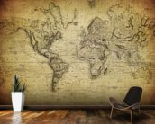 19th Century Vintage Map wall mural kitchen preview