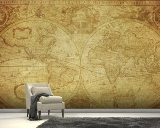 World Map Wall Paper map wallpaper & wall murals | wallsauce usa