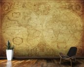 17th Century World Map wallpaper mural kitchen preview