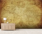 17th Century World Map wallpaper mural living room preview