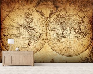 World Map Wallpaper Adelaide. 18th Century World Map Wallpaper Mural  Wall Murals Wallsauce Australia