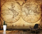 18th Century World Map wall mural kitchen preview