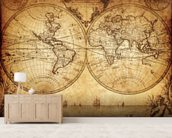 18th Century World Map wall mural living room preview