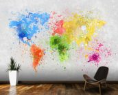 World Map Painting wallpaper mural kitchen preview