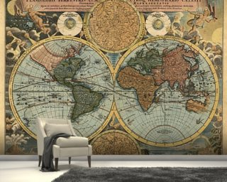 Ancient Map mural wallpaper