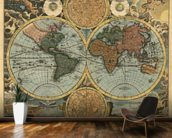 Ancient Map mural wallpaper kitchen preview