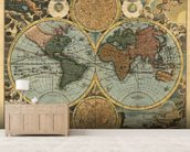 Ancient Map mural wallpaper living room preview
