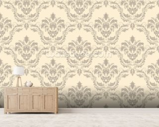 Damask wallpaper mural