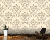 Damask wallpaper mural kitchen preview