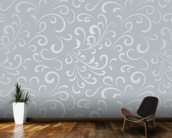 Floral Pattern - Grey mural wallpaper kitchen preview