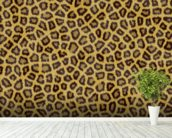 Leopard Skin wallpaper mural in-room view