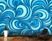 Waves mural wallpaper kitchen preview