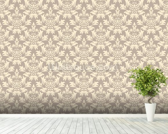 damask detailed wallpaper wall mural wallsauce