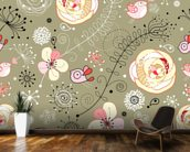Floral Birds wall mural kitchen preview