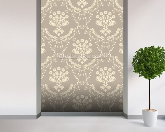 damask dark wallpaper wall mural wallsauce
