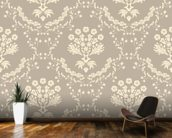 Damask - Dark wall mural kitchen preview