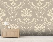 Damask - Dark wall mural living room preview
