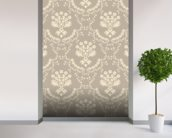 Damask - Dark wall mural in-room view