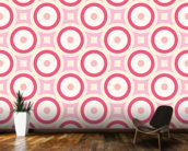 Circles - Red and Pink wallpaper mural kitchen preview