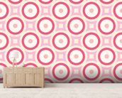 Circles - Red and Pink wallpaper mural living room preview