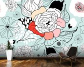 Summer Flowers wall mural kitchen preview