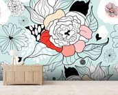 Summer Flowers wall mural living room preview