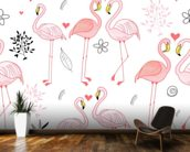 Pink Flamingos wallpaper mural kitchen preview