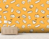 Food wall mural living room preview