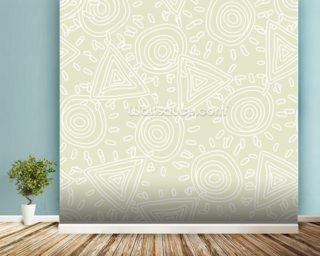 Circles and Triangles wall mural