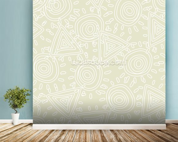 Circles and Triangles wall mural room setting