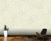 Circles and Triangles wall mural kitchen preview