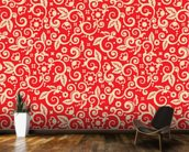 Floral - Red and Gold wallpaper mural kitchen preview