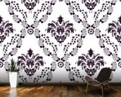 Damask - Blue wall mural kitchen preview