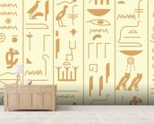 Hieroglyph illustration mural wallpaper living room preview