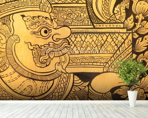 Traditional Thai style painting. wall mural room setting