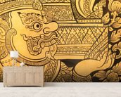 Traditional Thai style painting. wall mural living room preview