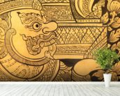 Traditional Thai style painting. wall mural in-room view