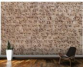 Ancient Assyrian clay tablet with cuneiform writing wallpaper mural kitchen preview
